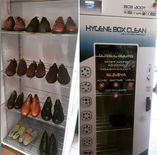 Lucidatura scarpe box in